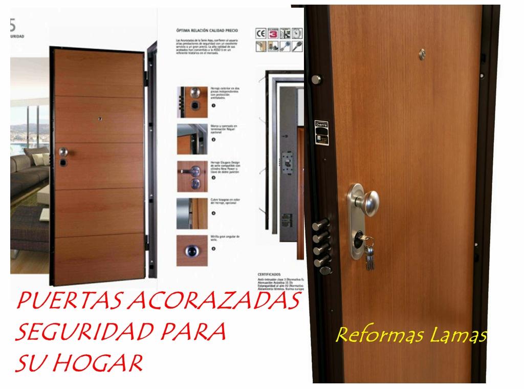 Puertas acorazadas Coruña económicas.