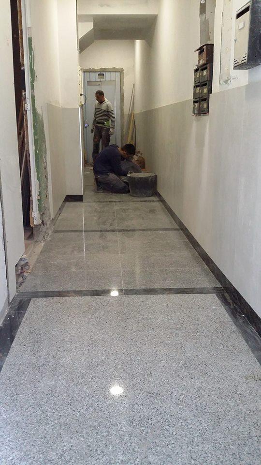Portal, granito, plaqueta, interiores